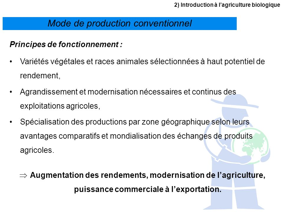 Mode de production conventionnel