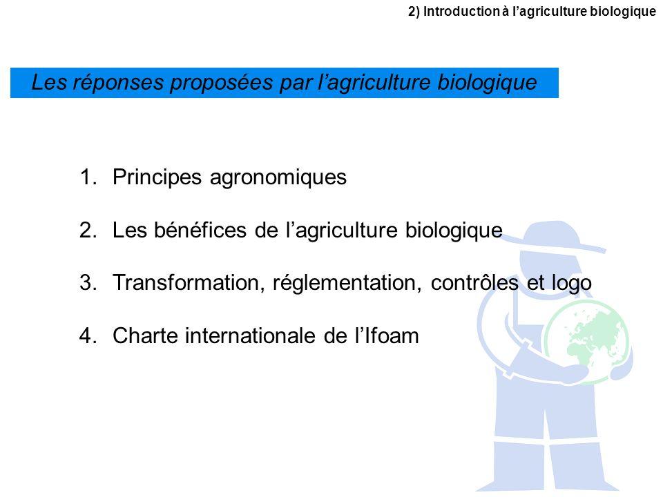 Les réponses proposées par l'agriculture biologique
