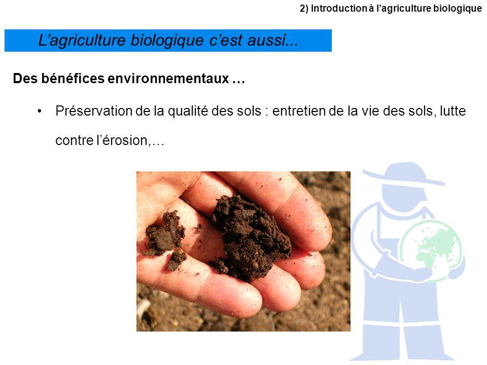 L'agriculture biologique c'est aussi...