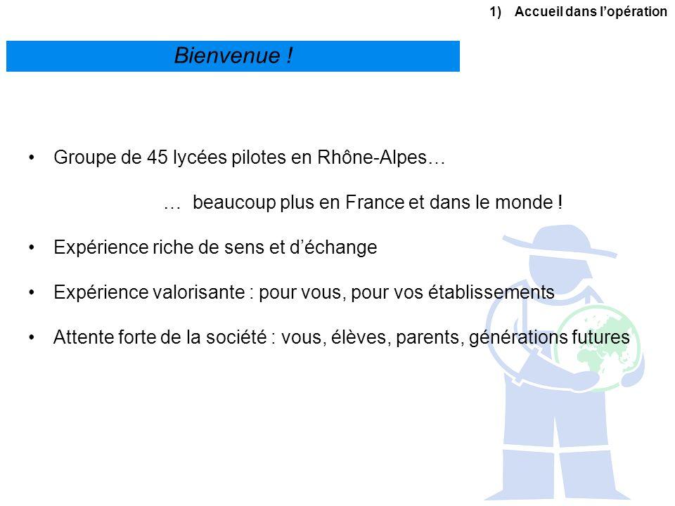 Bienvenue ! Groupe de 45 lycées pilotes en Rhône-Alpes…