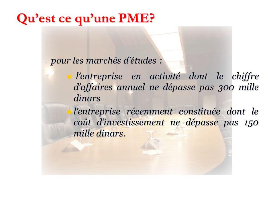 Qu'est ce qu'une PME pour les marchés d'études :