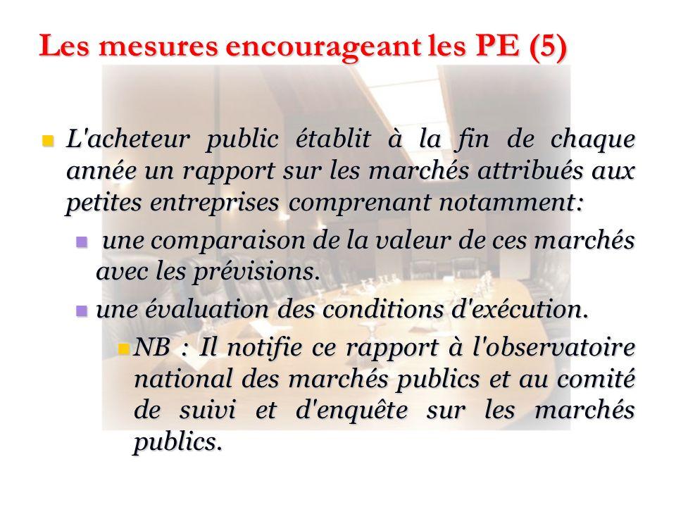 Les mesures encourageant les PE (5)