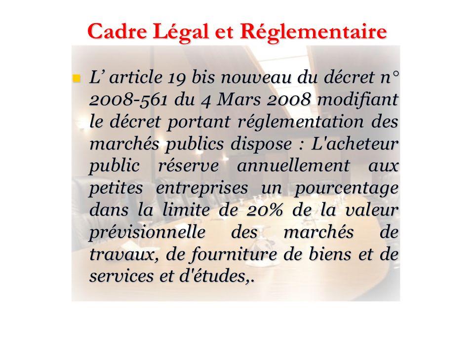 Cadre Légal et Réglementaire