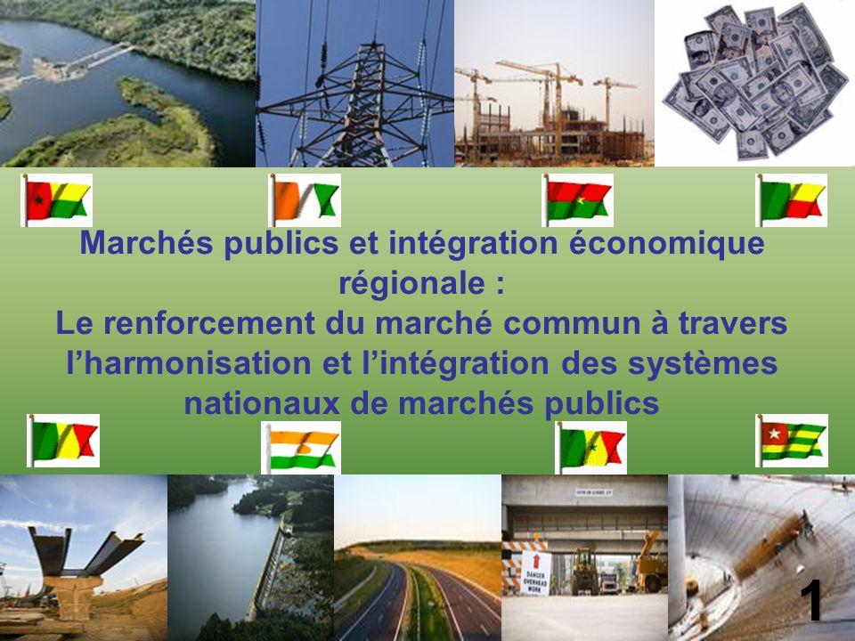 Marchés publics et intégration économique régionale :