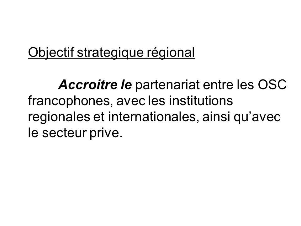 Objectif strategique régional