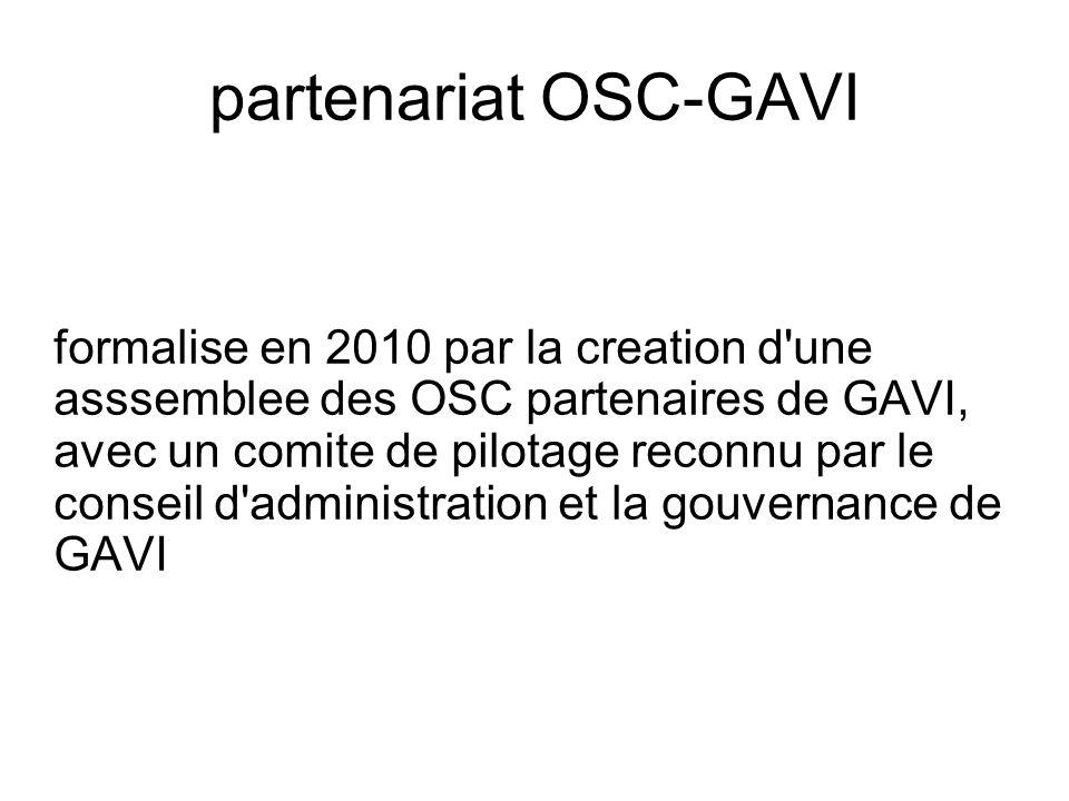 partenariat OSC-GAVI