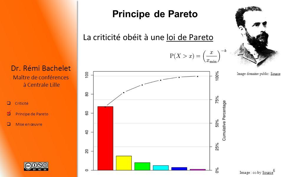 Principe de Pareto La criticité obéit à une loi de Pareto