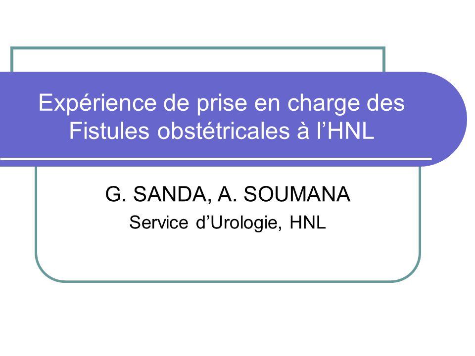 Expérience de prise en charge des Fistules obstétricales à l'HNL