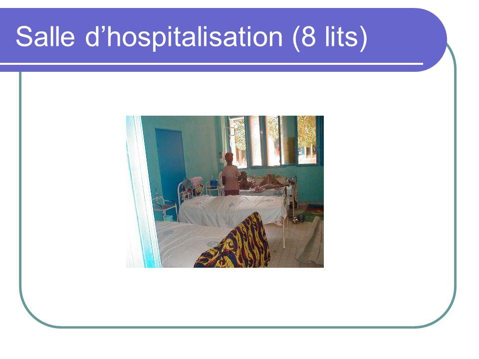 Salle d'hospitalisation (8 lits)
