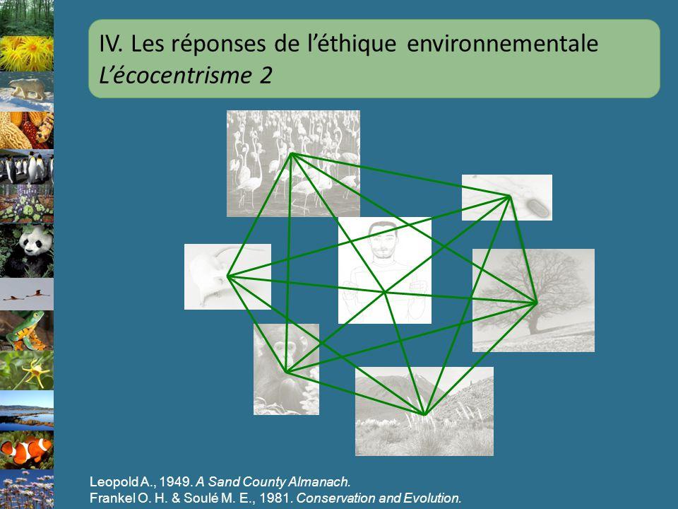 IV. Les réponses de l'éthique environnementale L'écocentrisme 2