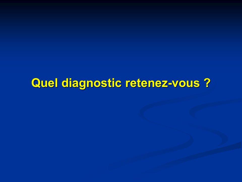 Quel diagnostic retenez-vous