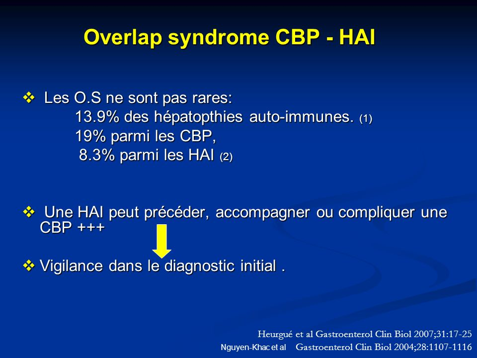 Overlap syndrome CBP - HAI