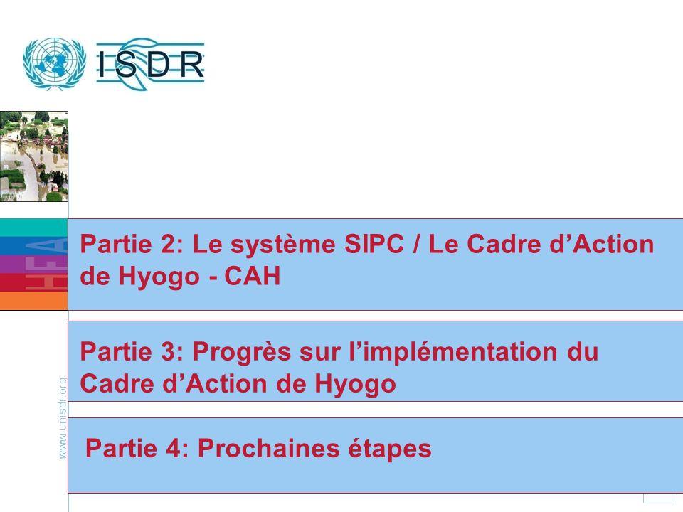 Partie 2: Le système SIPC / Le Cadre d'Action de Hyogo - CAH