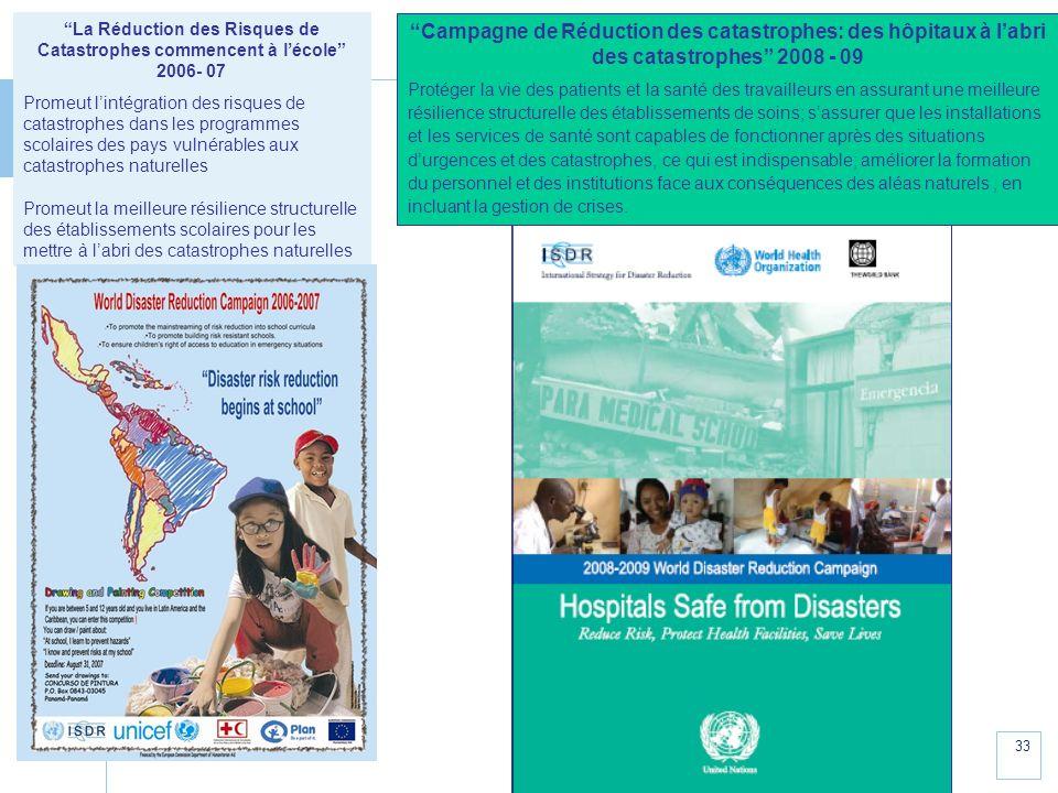 La Réduction des Risques de Catastrophes commencent à l'école 2006- 07