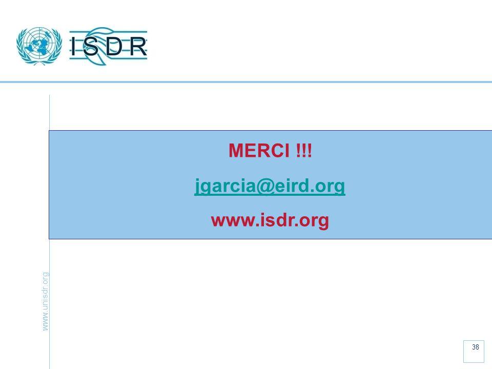 MERCI !!! jgarcia@eird.org www.isdr.org