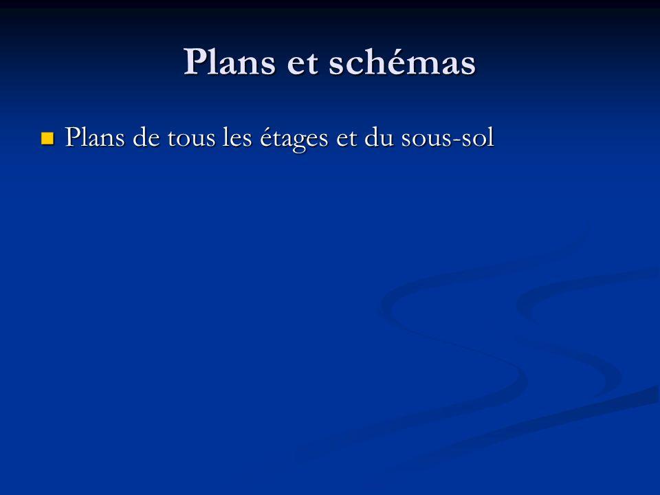Plans et schémas Plans de tous les étages et du sous-sol