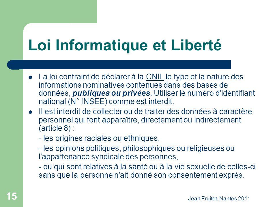 Loi Informatique et Liberté
