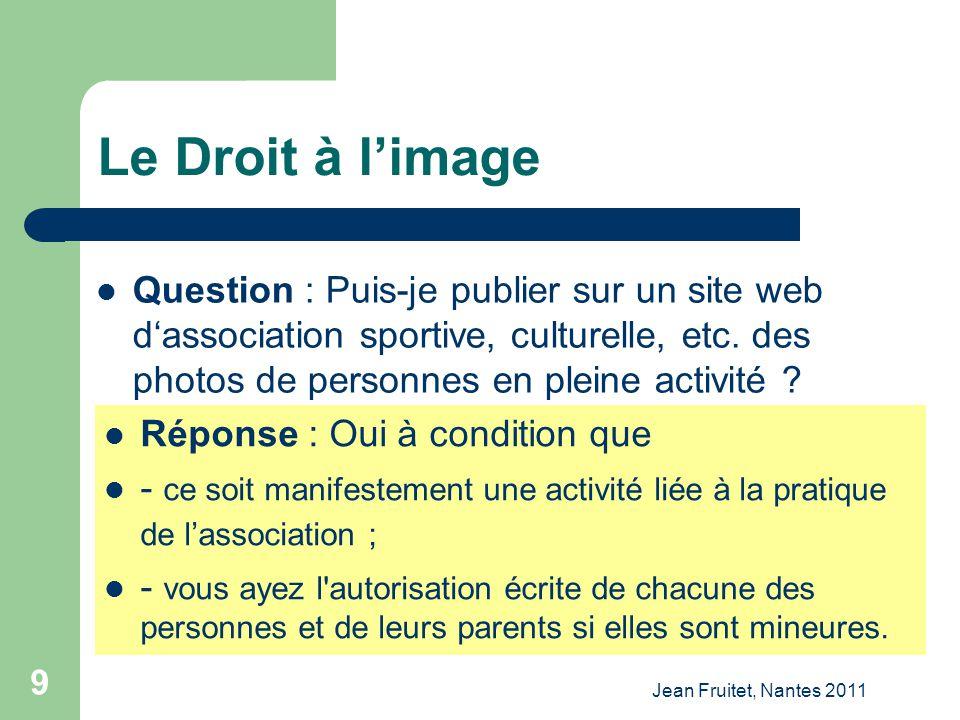 Le Droit à l'image Question : Puis-je publier sur un site web d'association sportive, culturelle, etc. des photos de personnes en pleine activité