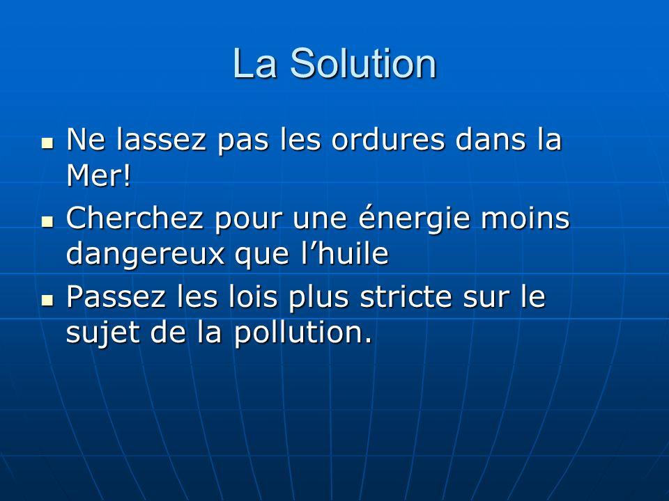 La Solution Ne lassez pas les ordures dans la Mer!