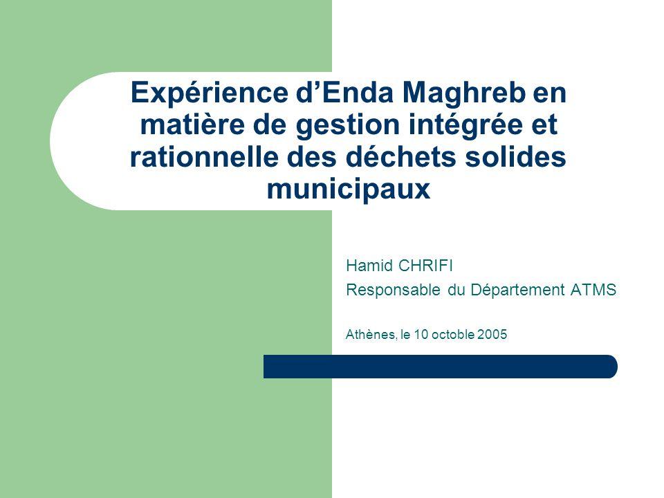 Expérience d'Enda Maghreb en matière de gestion intégrée et rationnelle des déchets solides municipaux