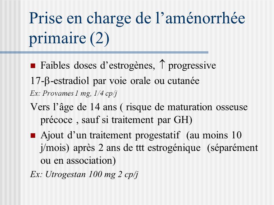 Prise en charge de l'aménorrhée primaire (2)