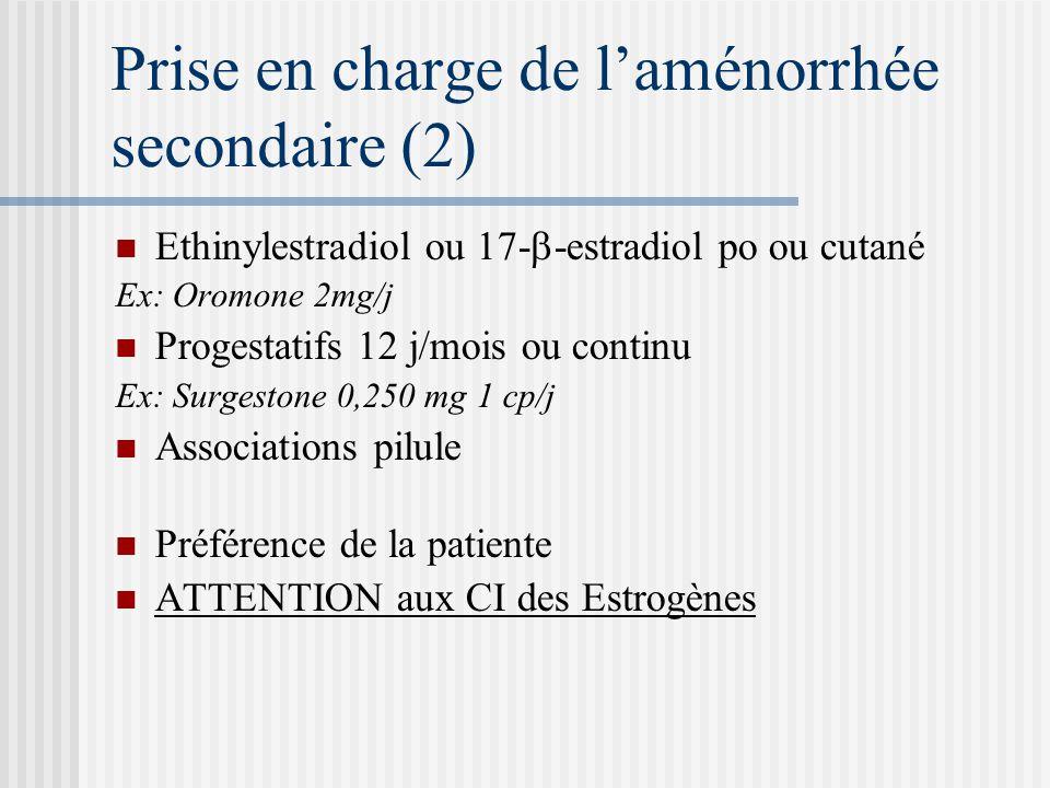 Prise en charge de l'aménorrhée secondaire (2)