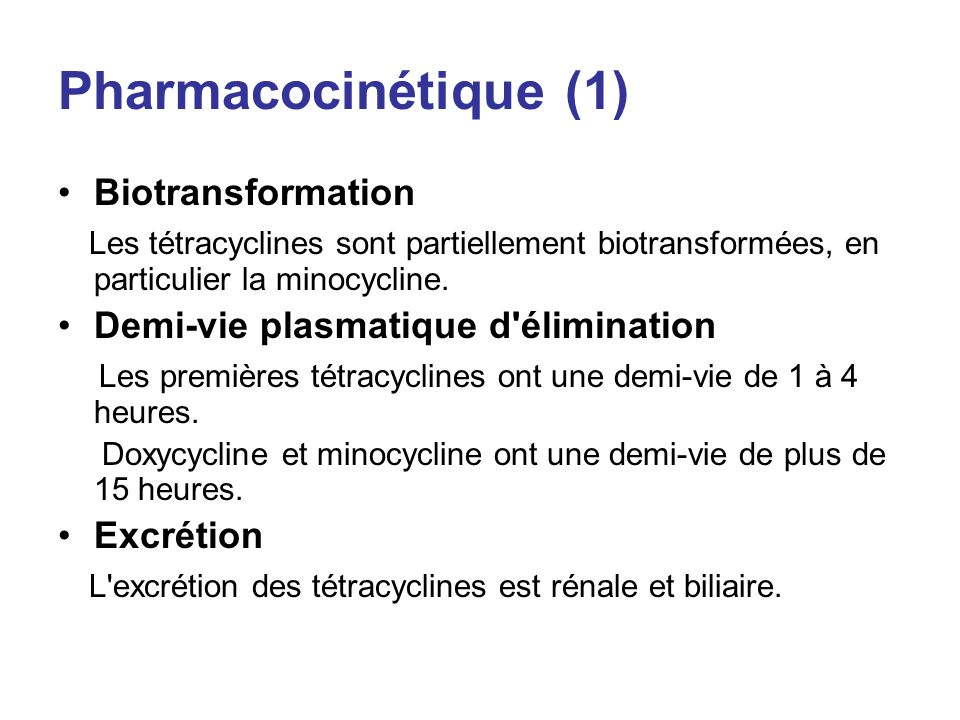 Pharmacocinétique (1) Biotransformation