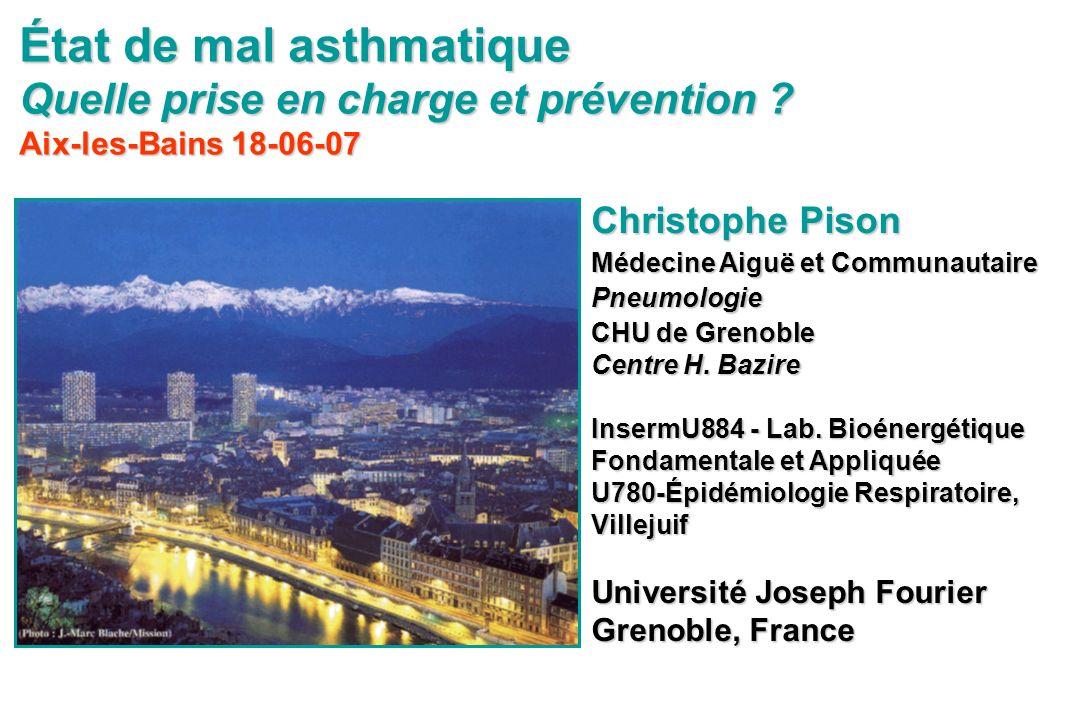 État de mal asthmatique Quelle prise en charge et prévention