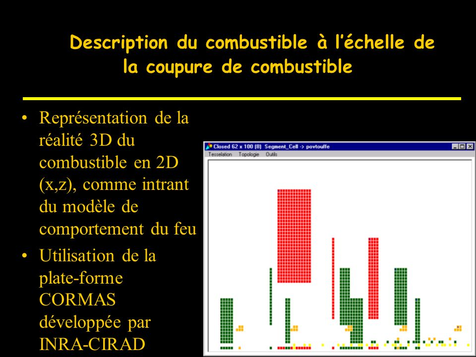 D Description du combustible à l'échelle de la coupure de combustible
