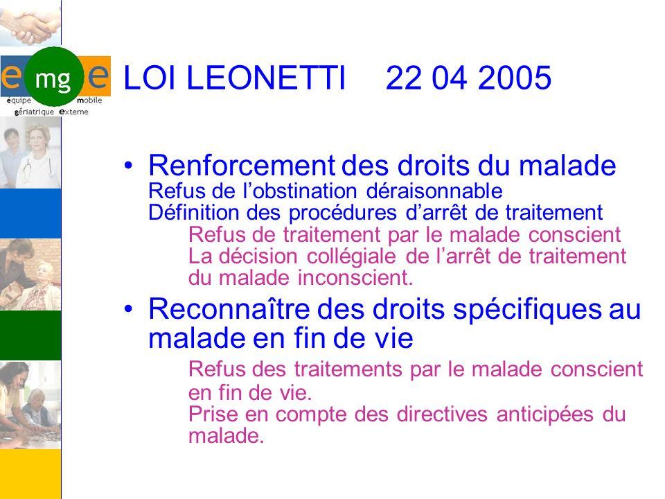 LOI LEONETTI 22 04 2005