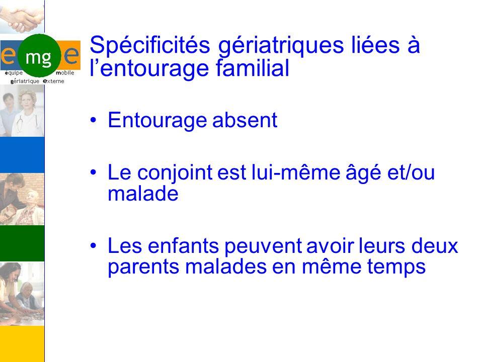 Spécificités gériatriques liées à l'entourage familial