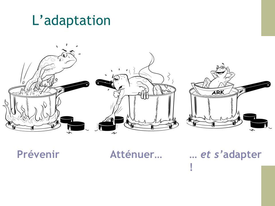 L'adaptation Prévenir Atténuer… … et s'adapter !