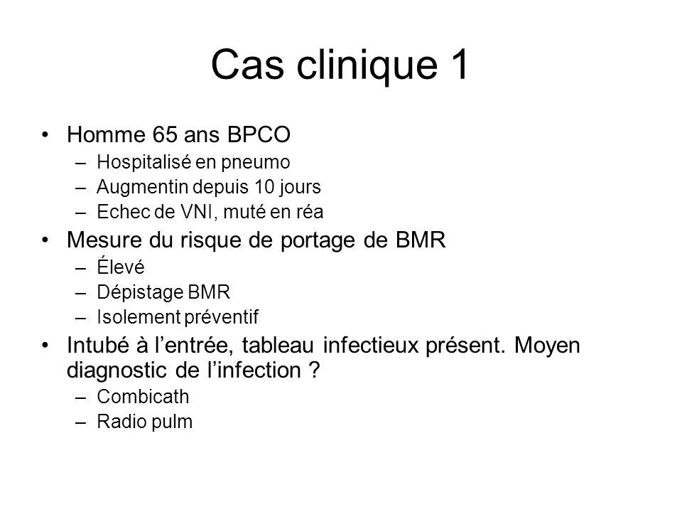 Cas clinique 1 Homme 65 ans BPCO Mesure du risque de portage de BMR