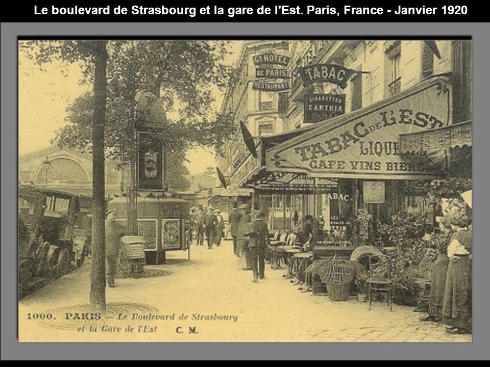 Le boulevard de Strasbourg et la gare de l Est