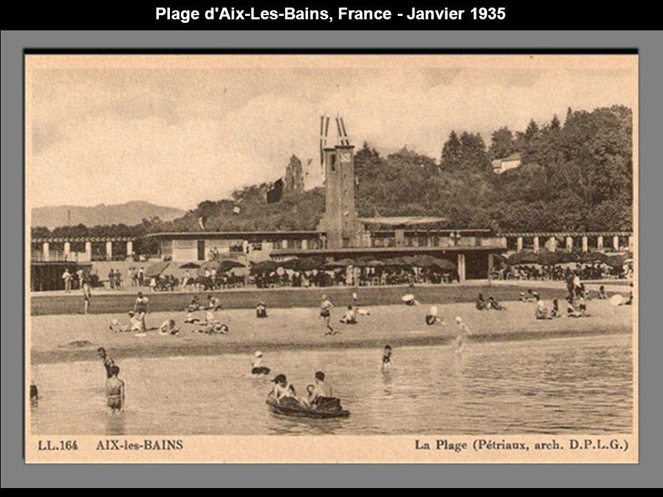 Plage d Aix-Les-Bains, France - Janvier 1935