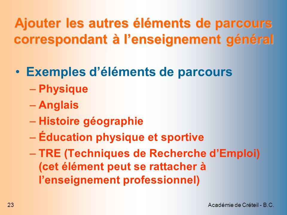 Académie de Créteil - B.C.