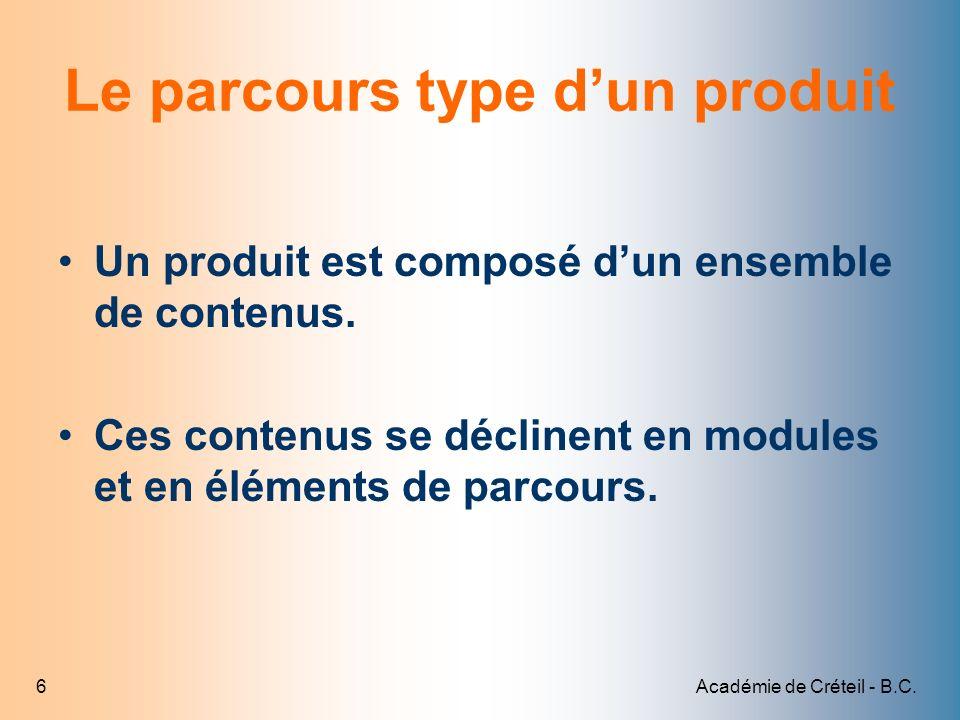 Le parcours type d'un produit