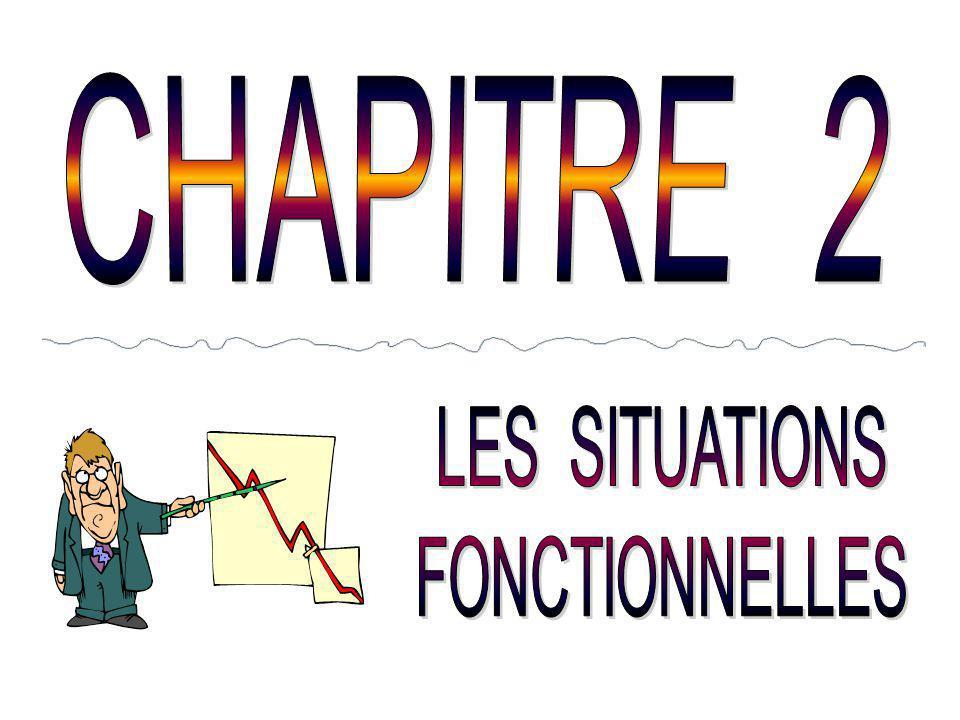 CHAPITRE 2 LES SITUATIONS FONCTIONNELLES