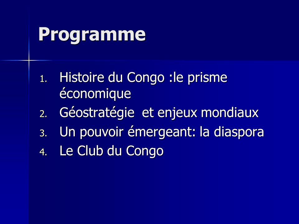 Programme Histoire du Congo :le prisme économique