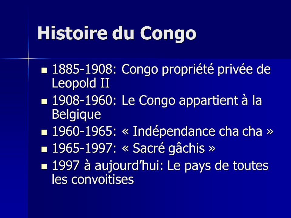 Histoire du Congo 1885-1908: Congo propriété privée de Leopold II