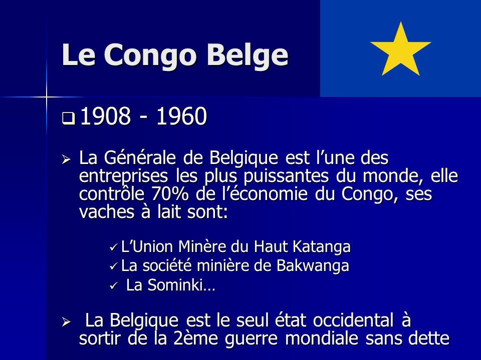 Le Congo Belge 1908 - 1960.