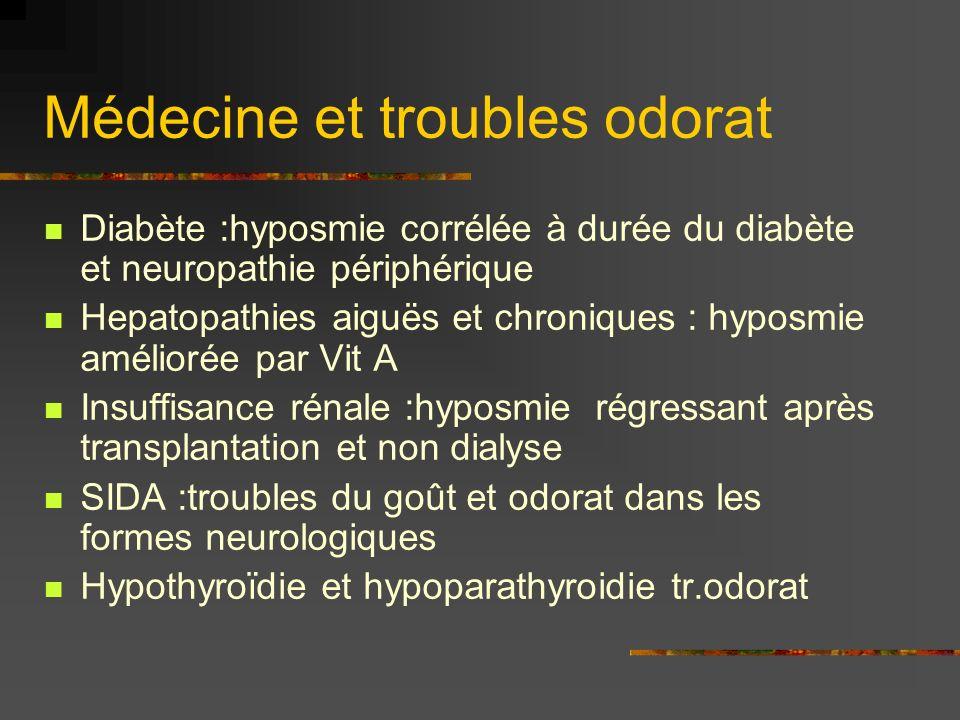 Médecine et troubles odorat
