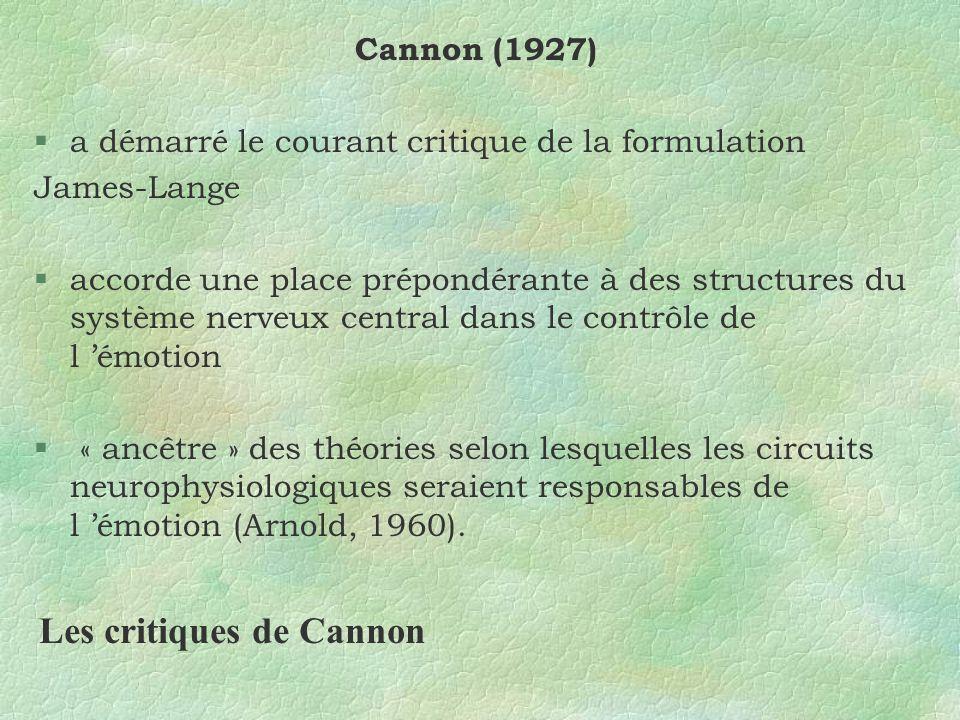 Les critiques de Cannon