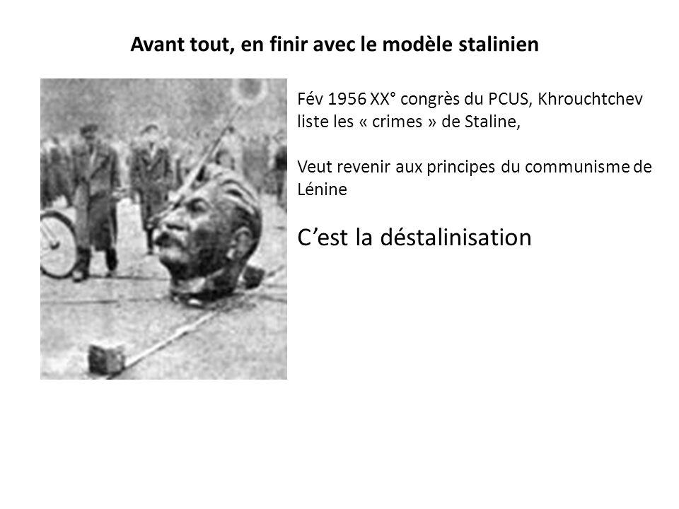 Avant tout, en finir avec le modèle stalinien