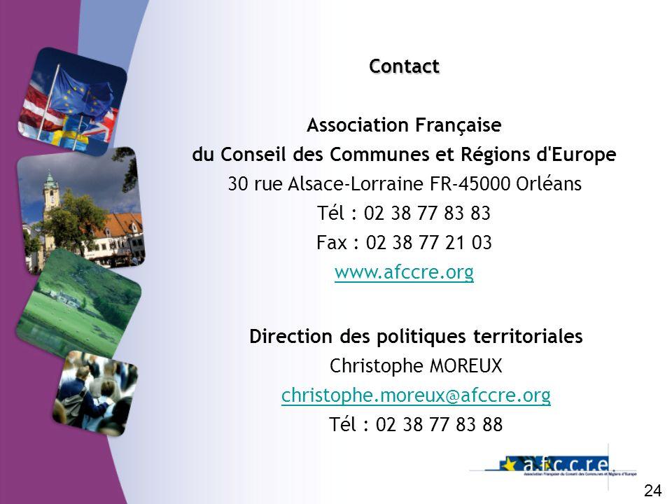 Association Française du Conseil des Communes et Régions d Europe