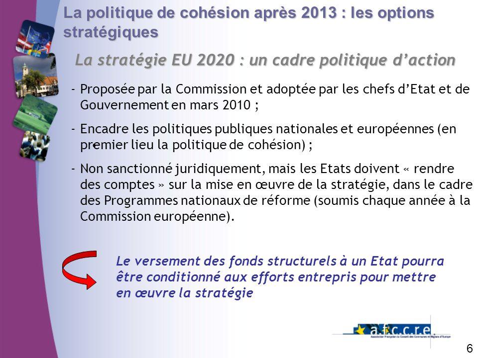 La stratégie EU 2020 : un cadre politique d'action