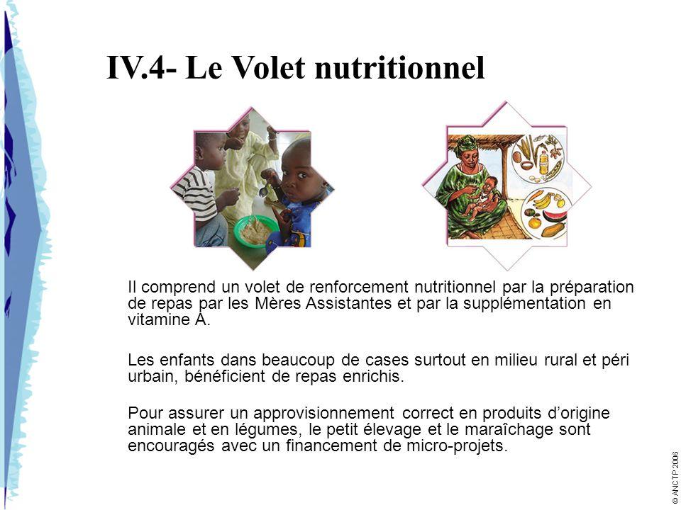 IV.4- Le Volet nutritionnel