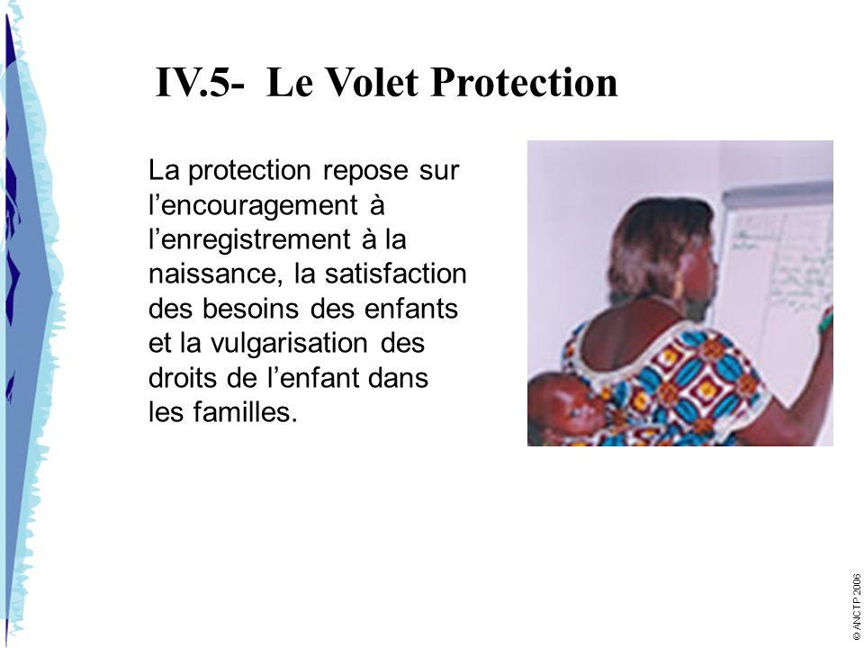 IV.5- Le Volet Protection