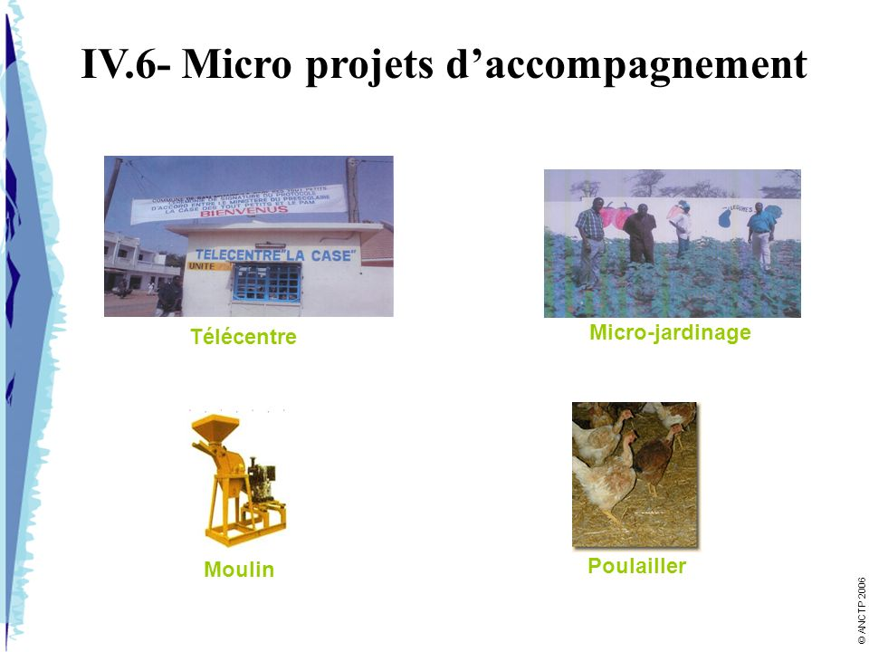 IV.6- Micro projets d'accompagnement