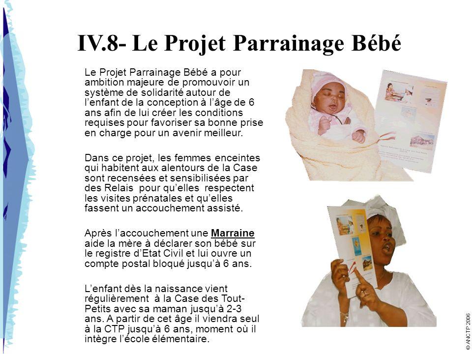 IV.8- Le Projet Parrainage Bébé